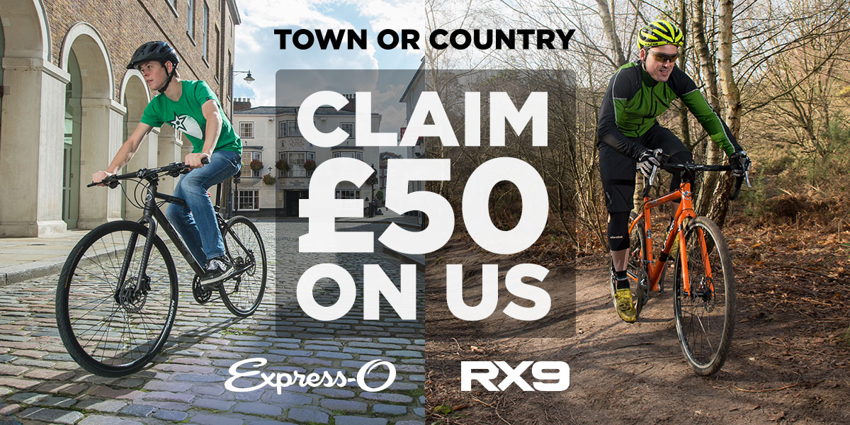 Claim £50 on us when you buy an RX9 or an Express-O