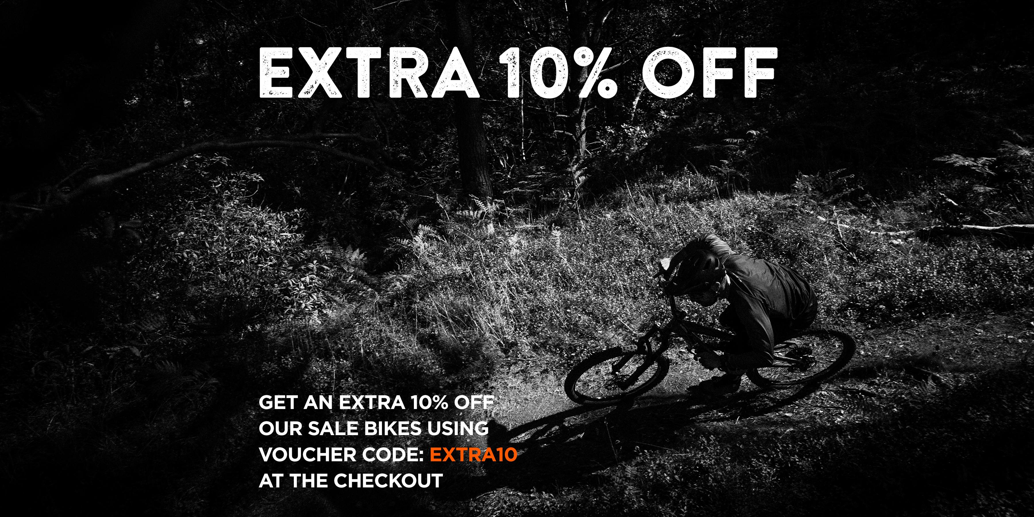 Extra 10% off on all bikes on offer