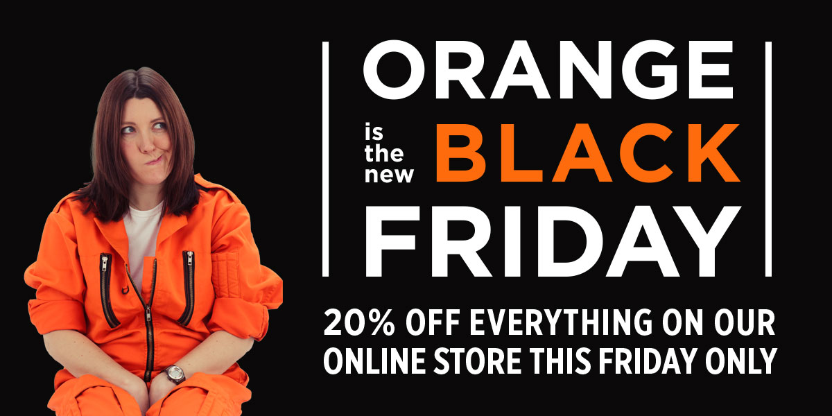 20% of everything on our online store this Friday, 28th November