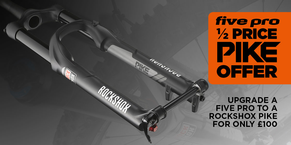Upgrade a five pro to a rockshox pike for only £100