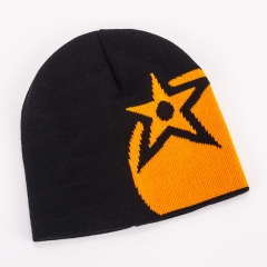 Orange Beanie Hat 1