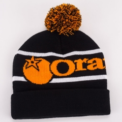 Orange Bikes Bobble Hat 1