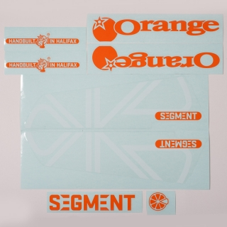 Orange/White decal kit