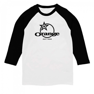 Orange Classic Kids Baseball Tee Front