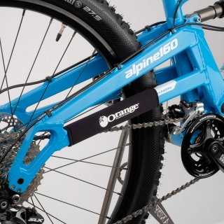 Split chainstay protector on Alpine 160 swing Arm