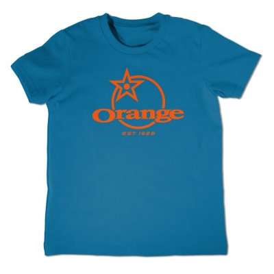 front classic logo printed in orange
