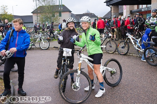 Hannah Barnes Pete Scullion MTBcut Orange Bikes Tour de Ben Nevis