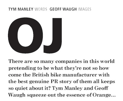 Privateer Magazine Orange Mountain Bikes Geoff Waugh Tym Manley