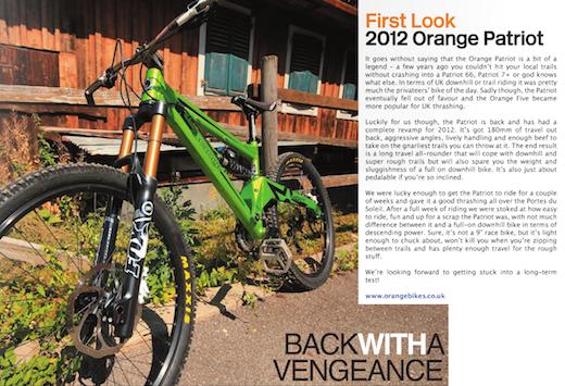 Orange Bikes Patriot Wideopen Magazine Review