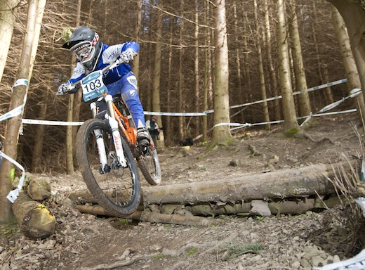 Adam Hughes Orange Five  Alpine Bikes Winter Series