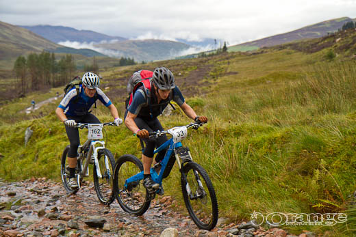 Ruari Watt James Shirely Orange Bikes Tour de Ben Nevis