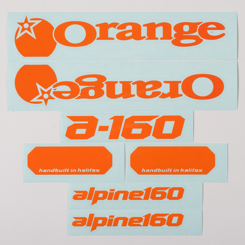 Orange decal kit