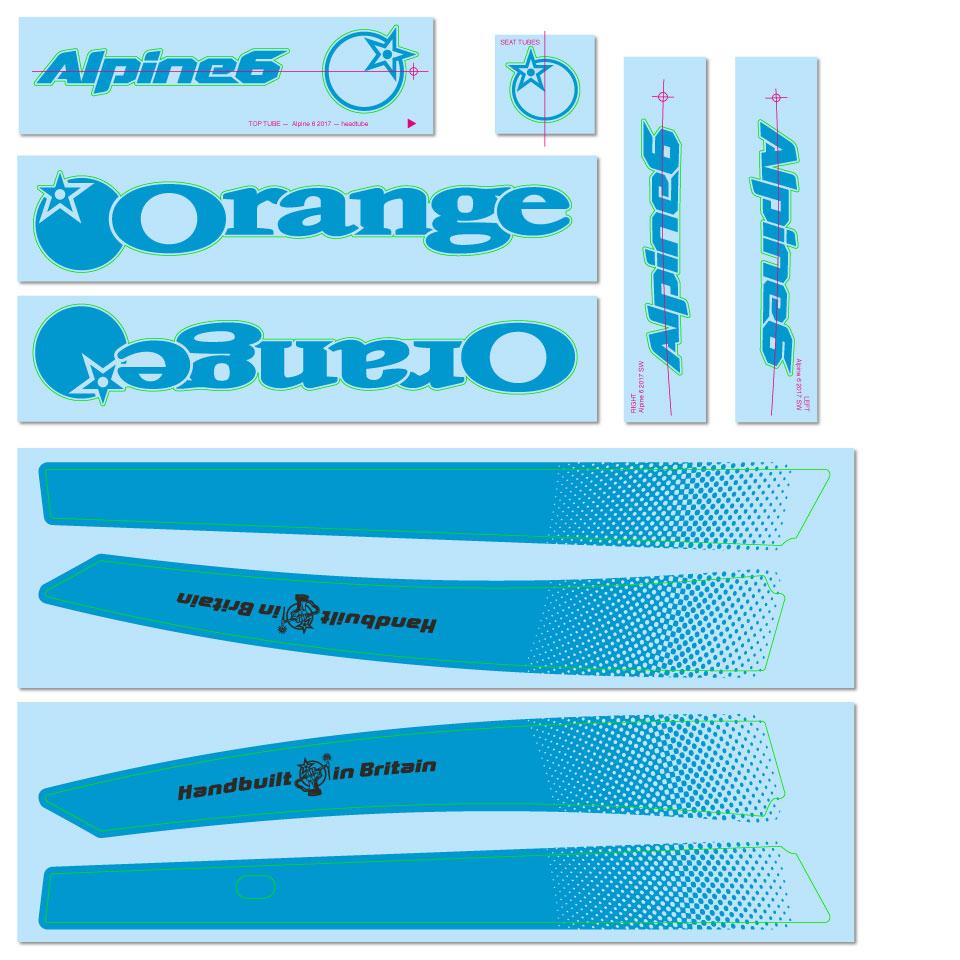 Blue Decal Kit