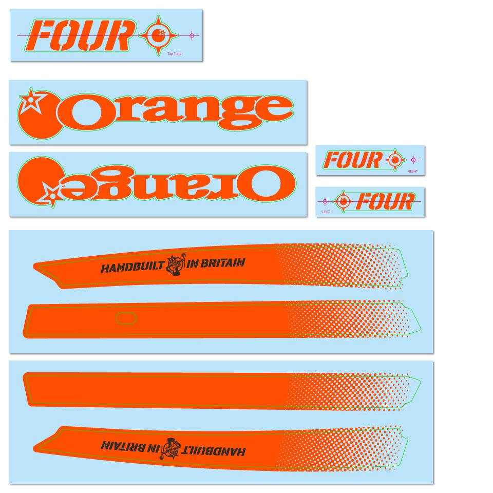 Orange Decal Kit