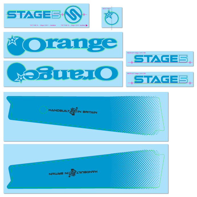 Blue Decal Kit