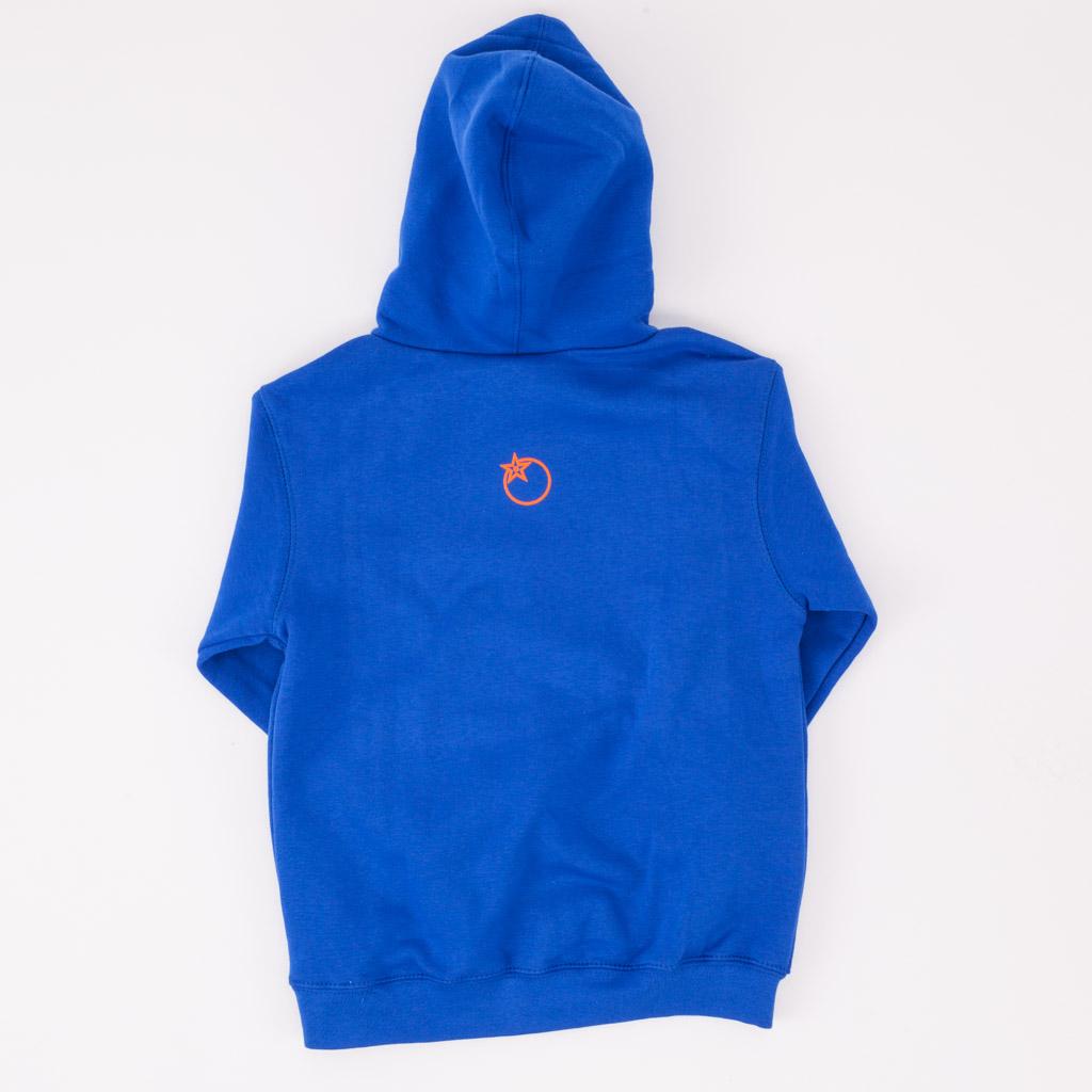 Kids Blue Hoodie Reverse