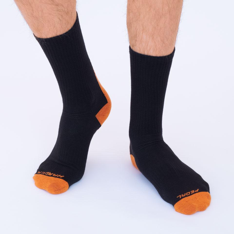Orange Crew Sock