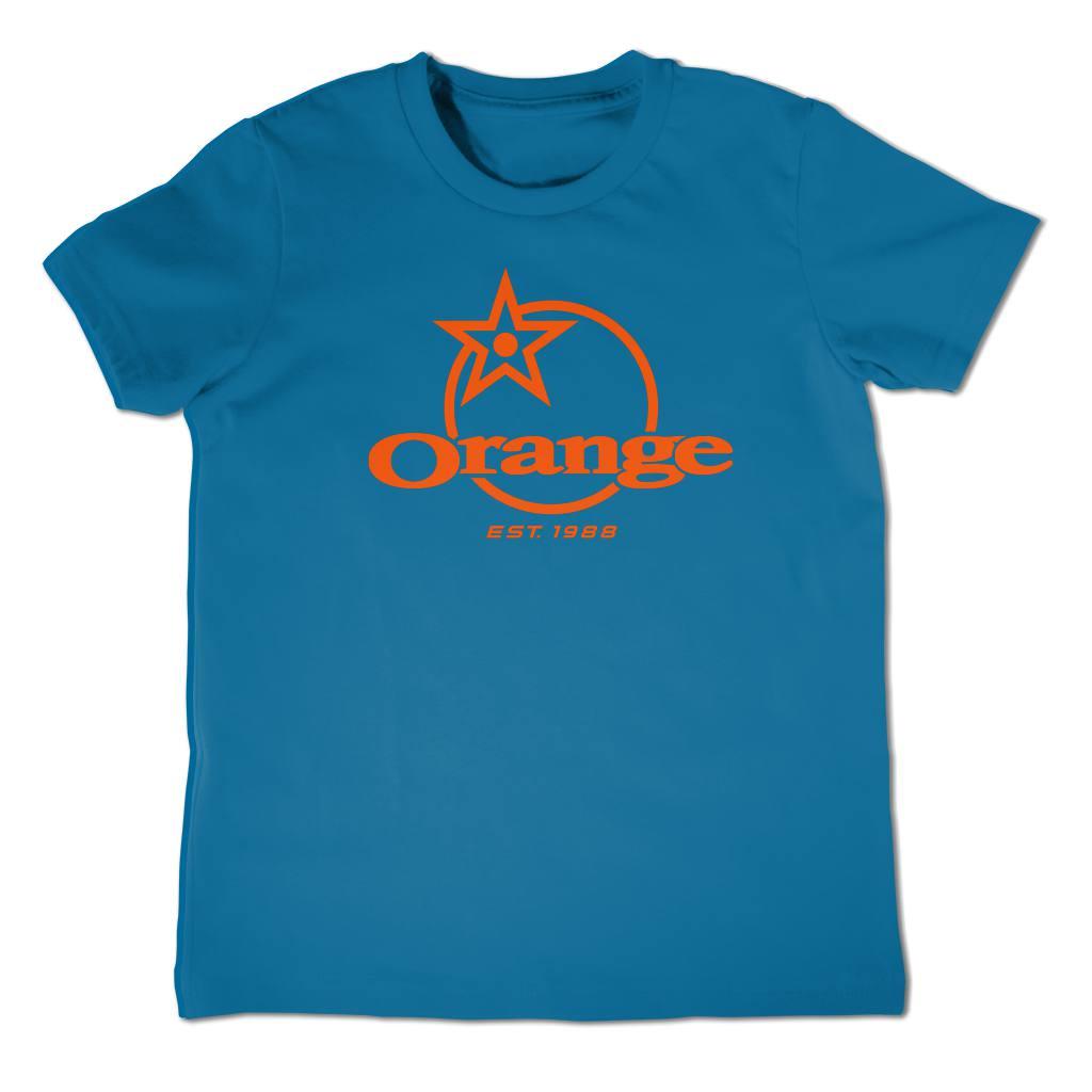 front classic logo printed in orange