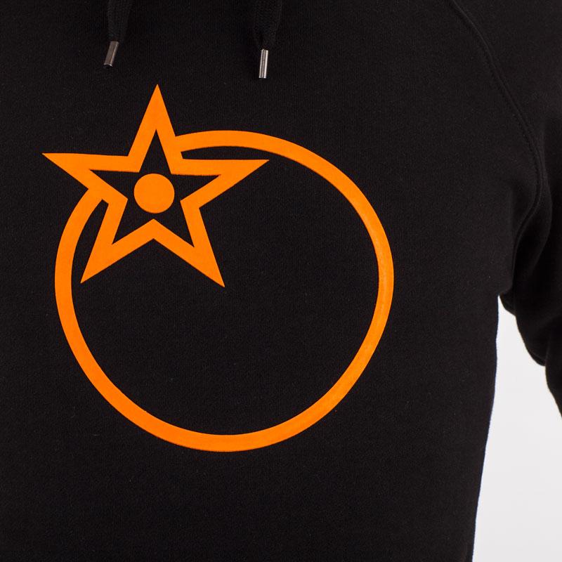 Raised orange print logo design