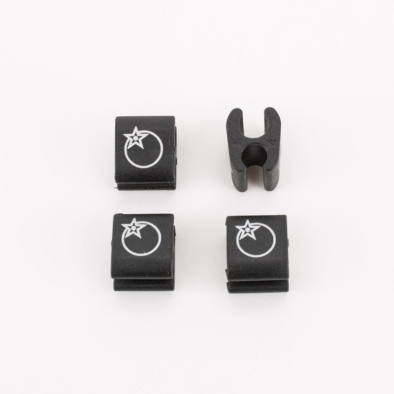 Orange Cable Tidies (4 Pack)