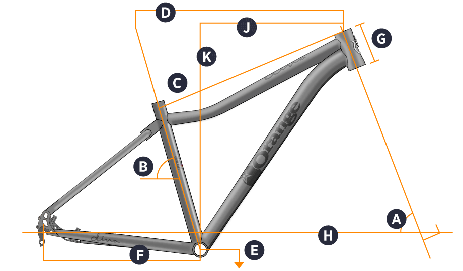 2105 Diva Hardtail Geometry