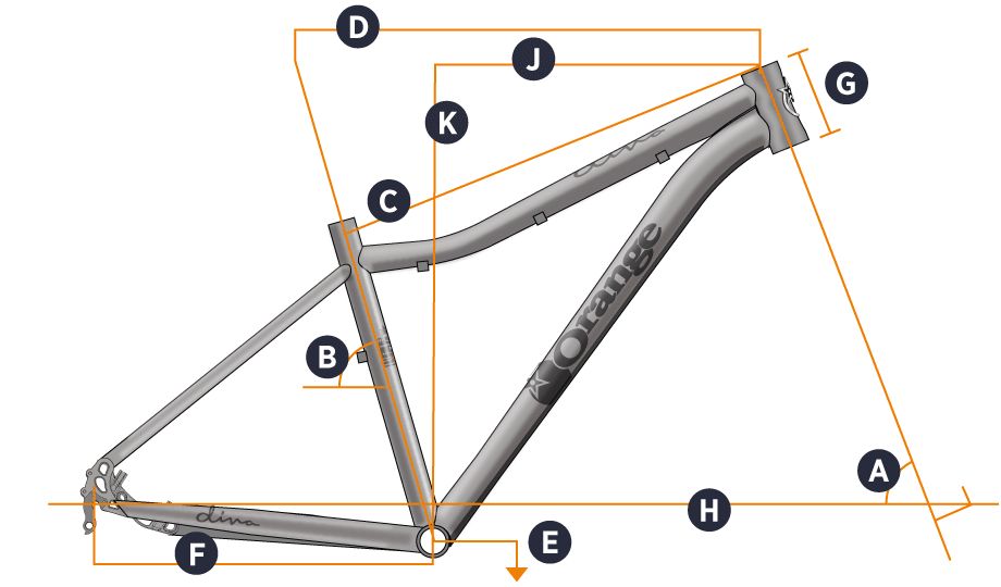2016 Diva Hardtail Geometry